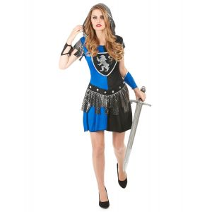 Déguisement Chevalier bleu Femme - Taille: Small
