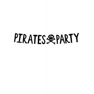 Guirlande en carton pirates party noire 14 cm x 1 m
