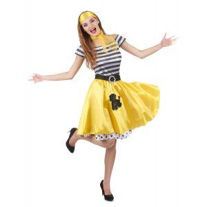 Déguisement années 50 jaune Femme - Taille: M