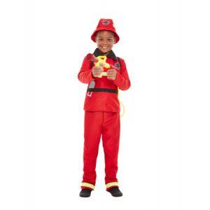 Déguisement pompier rouge garçon - Taille: 7-9 ans (130/143 cm)