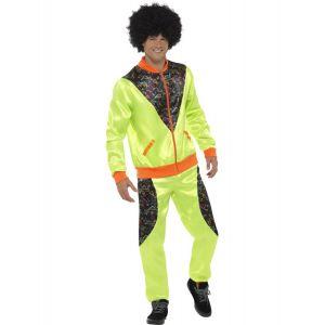 Déguisement jogging rétro vert homme - Taille: L
