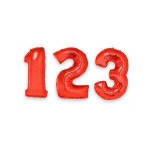 Ballon aluminium chiffre rouge 1 m