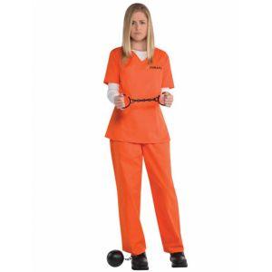 Déguisement prisonnière orange femme - Taille: M