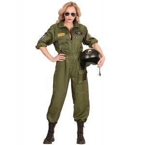 Déguisement pilote de combat femme - Taille: Medium