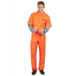 Déguisement prisonnier homme - Taille: M