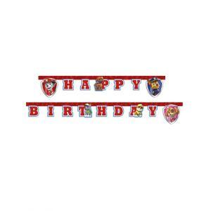 Guirlande Happy Birthday Pat'Patrouille prêt pour l'action 2 m