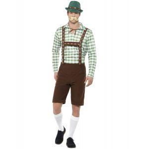 Déguisement bavarois vert et marron adulte - Taille: M
