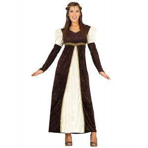 Déguisement princesse médiévale marron femme - Taille: L (42-44)