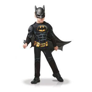 Déguisement avec masque Batman luxe garçon - Taille: 3 à 4 ans (90 à 104 cm)
