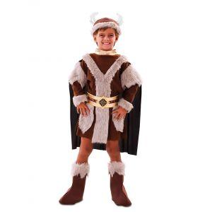Déguisement viking marron garçon - Taille: 5 à 6 ans  (105-121 cm)