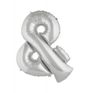 Ballon aluminium géant symbole + argent 80 cm