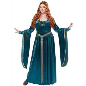 Déguisement princesse médiévale bleue grande taille femme - Taille: XL (44/46)