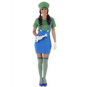 Déguisement plombier vert femme - Taille: XS