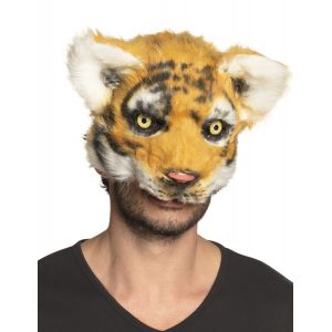 Masque tigre peluche adulte