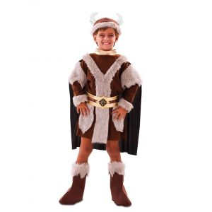 Déguisement viking marron garçon - Taille: 7 à 9 ans (122-138 cm)