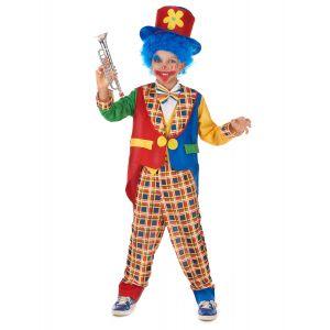 Déguisement clown joyeux enfant - Taille: M 7-9 ans (120-130 cm)