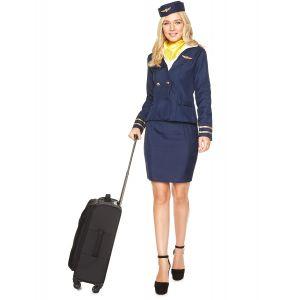 Déguisement Hôtesse de l'air bleu marine femme - Taille: XS
