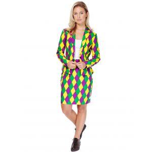 Costume Mrs. Arlequin femme Opposuits - Taille: M / L (EU 42)
