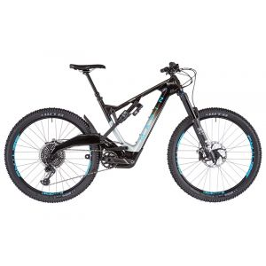 Marin Mount Vision 9 S, gloss carbon/charcoal fade/cyan decals VTT