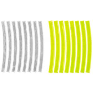 M-Wave Stripes Reflective Sticker 3m, yellow/white Réflecteurs