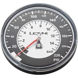 """""""Lezyne Manomètre 3-5"""""""" 220PSI pour toutes les pompes Floor, black/silver Accessoires pompe"""""""