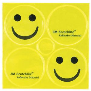 M-Wave Smile Reflective Sticker 3m, yellow Réflecteurs