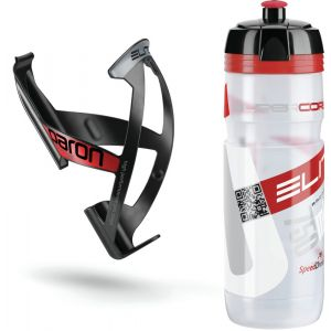 Elite Kit Supercorsa/Paron Bidon & porte-bidon 0.75 litres, clear/red/black/red Systèmes d'hydratation