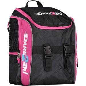 Dare2Tri Transition Sac à dos 13L, black/pink OSFA Sacs à dos triathlon & Sacs de transition