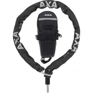 Axa RLC Chaîne antivol pour Defender 100 cm + sacoche de rangement, black Accessoires antivol