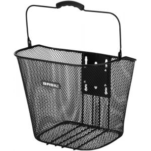 Basil Bremen BE Front Wheel Basket Includes BasEasy adapter plate and holder, black Paniers pour guidon