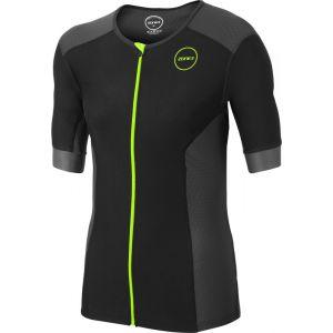 Zone3 Aquaflo+ T-shirt de triathlon Homme, navy/grey/neon green S Combinaisons triathlon & Trifonctions