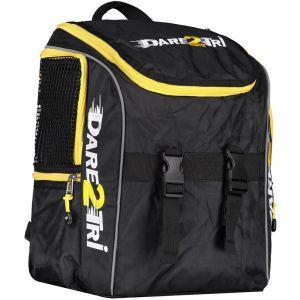 Dare2Tri Transition Sac à dos 13L, black/yellow OSFA Sacs à dos triathlon & Sacs de transition