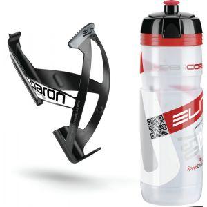 Elite Kit Supercorsa/Paron Bidon & porte-bidon 0.75 litres, clear/red/black/white Systèmes d'hydratation