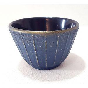 Tasse en fonte émaillée bleu