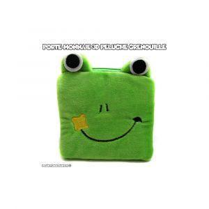 Porte-monnaie peluche 3D - grenouille