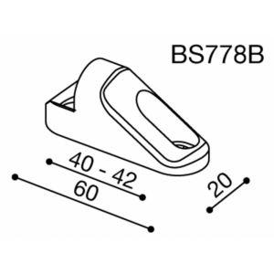 Adaptateur rétroviseur carénage Rizoma BS778B