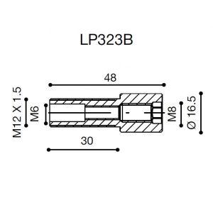 Adaptateur Proguard System Rizoma LP323B (guidon OEM)