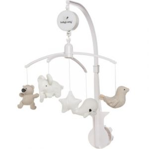 Mobile musical animaux beige Baby's Only