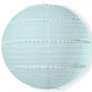 Boule japonaise pompons bleu Arty Fêtes Factory