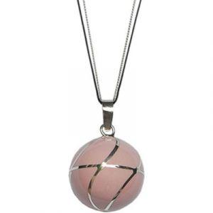 Bola sur cordon Grace Color rose poudré (argent 925°) Nativee