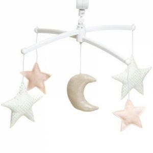 Mobile musical Lune nude (7 mélodies au choix) Pouce et Lina
