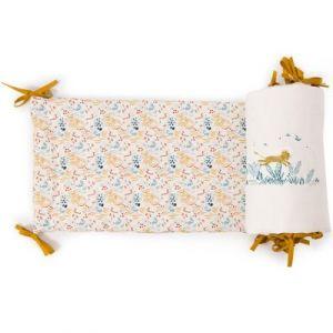 Tour de lit fleuri Sous mon baobab (pour lits 60 x 120 cm ou 70 x 140 cm) Moulin Roty