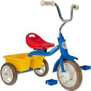 Tricycle Transporter avec panier arrière bleu, rouge et jaune Italtrike