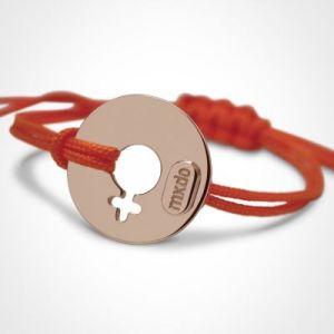 Bracelet 'Disco' Fille (or rose 750°) Mikado