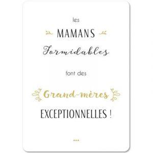 Carte citation Grand-Mère (15 x 21 cm) Mes Mots Déco