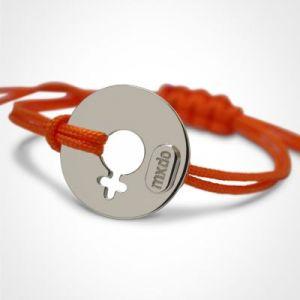 Bracelet 'Disco' Fille (or blanc 750°) Mikado