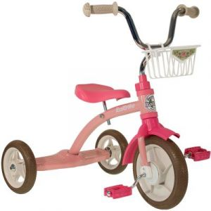 Tricycle Super Lucy avec panier avant 10'' rose Italtrike
