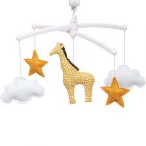 Mobile musical girafe jaune (6 mélodies au choix) Pouce et Lina