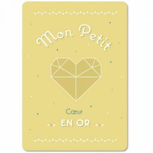 Carte Origami petit coeur (15 x 21 cm) Mes Mots Déco