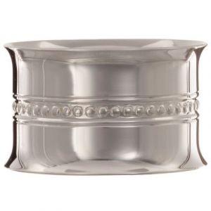Rond de serviette Perles personnalisable (métal argenté) dans son coffret Daniel Crégut